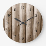Rustic Country Log Cabin Distressed Vintage Wood Wall Clock