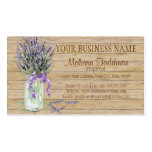 Rustic Country Mason Jar French Lavender Bouquet Business Cards