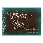 Rustic Country Personalized Wedding Thank You Card