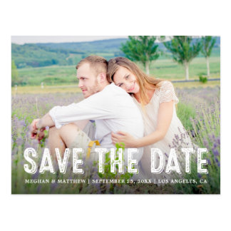 Rustic Country | Photo Save the Date Postcard