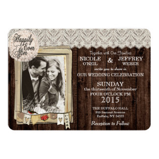 Rustic Country Photo Wedding Invitation