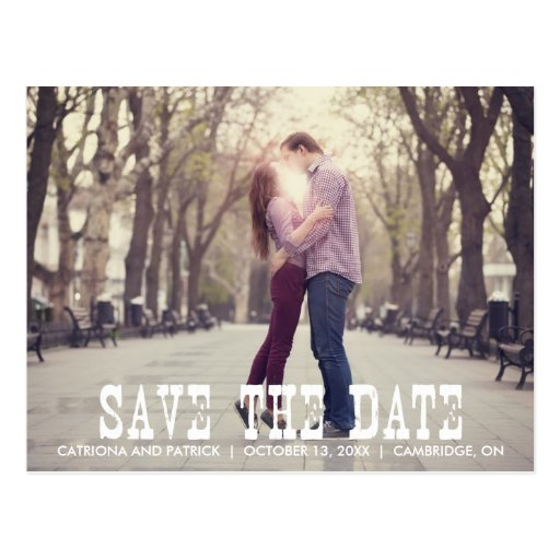 Rustic Country Save the Date Announcement Postcard