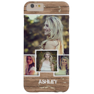 Rustic Country Style Picture Frame Photo Collage Barely There iPhone 6 Plus Case