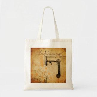 rustic country summer daisy wedding bridesmaid budget tote bag