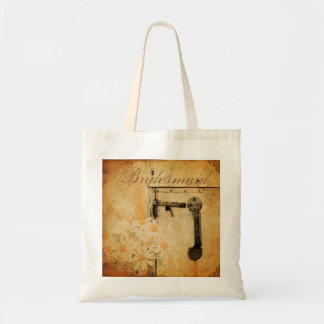 rustic country summer daisy wedding bridesmaid tote bag