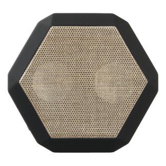 Rustic Country Vintage Burlap Black Bluetooth Speaker