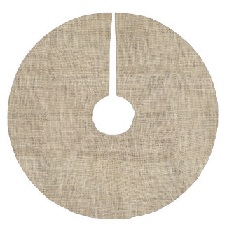 Rustic Country Vintage Burlap Brushed Polyester Tree Skirt