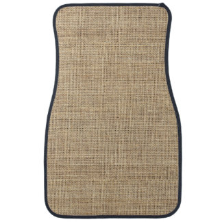 Rustic Country Vintage Burlap Car Carpet