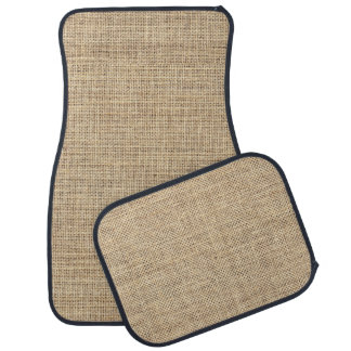Rustic Country Vintage Burlap Car Mat