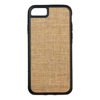 Rustic Country Vintage Burlap Carved iPhone 8/7 Case