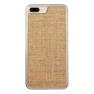 Rustic Country Vintage Burlap Carved iPhone 8 Plus/7 Plus Case
