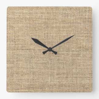 Rustic Country Vintage Burlap Clocks