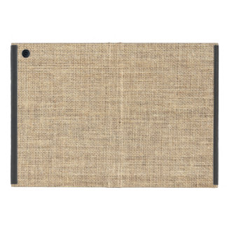 Rustic Country Vintage Burlap Cover For iPad Mini