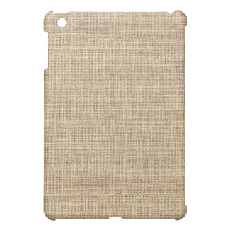 Rustic Country Vintage Burlap Cover For The iPad Mini