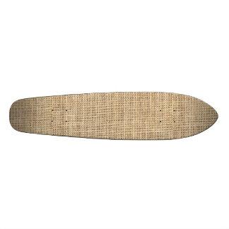 Rustic Country Vintage Burlap Custom Skateboard