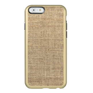 Rustic Country Vintage Burlap Incipio Feather® Shine iPhone 6 Case
