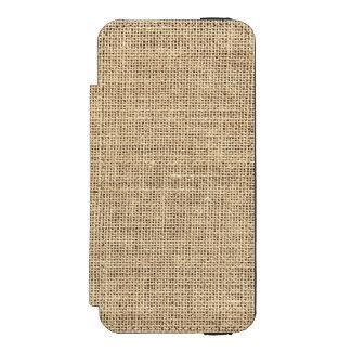Rustic Country Vintage Burlap Incipio Watson™ iPhone 5 Wallet Case