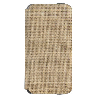Rustic Country Vintage Burlap Incipio Watson™ iPhone 6 Wallet Case