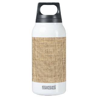 Rustic Country Vintage Burlap Insulated Water Bottle