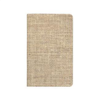 Rustic Country Vintage Burlap Journal