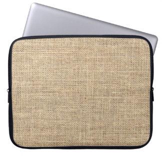 Rustic Country Vintage Burlap Laptop Sleeve