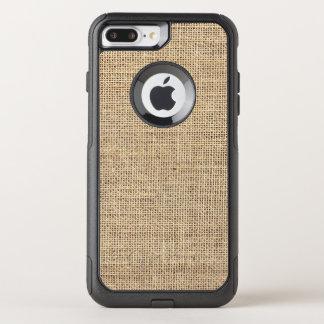 Rustic Country Vintage Burlap OtterBox Commuter iPhone 8 Plus/7 Plus Case