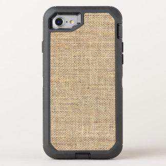 Rustic Country Vintage Burlap OtterBox Defender iPhone 8/7 Case