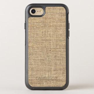 Rustic Country Vintage Burlap OtterBox Symmetry iPhone 8/7 Case