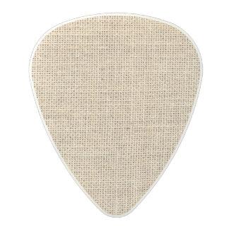 Rustic Country Vintage Burlap Polycarbonate Guitar Pick