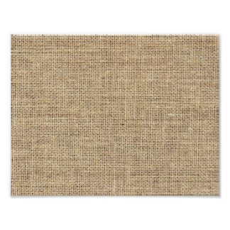 Rustic Country Vintage Burlap Poster