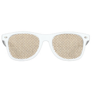 Rustic Country Vintage Burlap Retro Sunglasses
