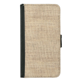 Rustic Country Vintage Burlap Samsung Galaxy S5 Wallet Case