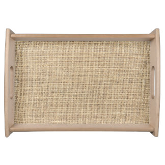 Rustic Country Vintage Burlap Serving Tray