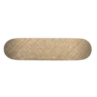 Rustic Country Vintage Burlap Skate Board Decks