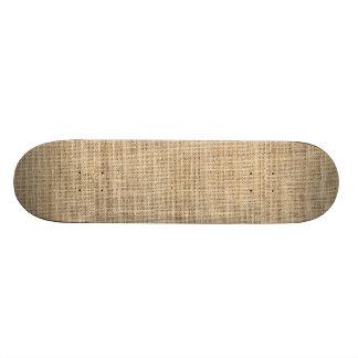 Rustic Country Vintage Burlap Skate Deck