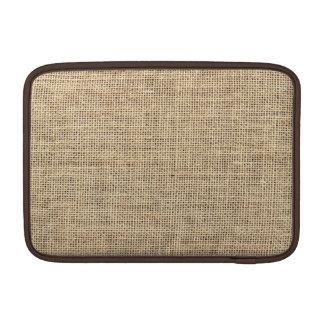 Rustic Country Vintage Burlap Sleeve For MacBook Air