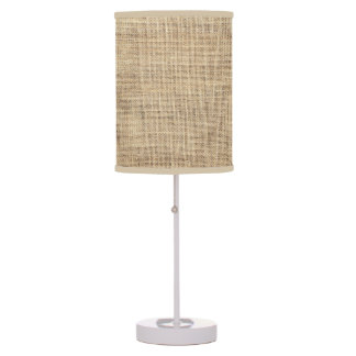 Rustic Country Vintage Burlap Table Lamp