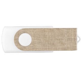 Rustic Country Vintage Burlap USB Flash Drive