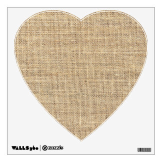 Rustic Country Vintage Burlap Wall Decal