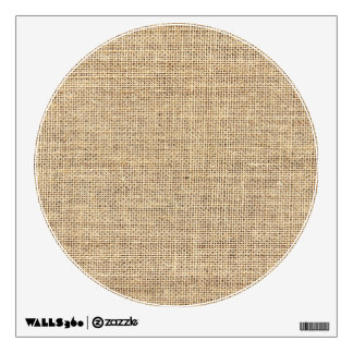 Rustic Country Vintage Burlap Wall Sticker