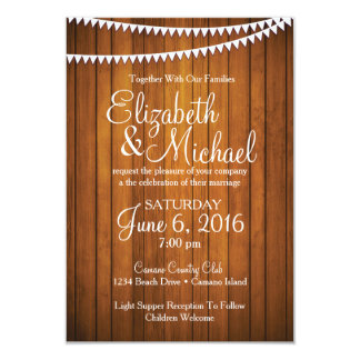 Rustic Country Wedding Invitation Template