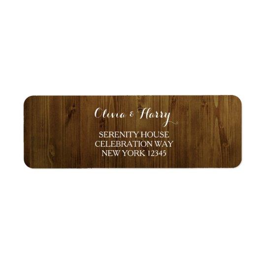 Rustic Country Wedding Return Address Labels