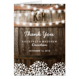 RUSTIC COUNTRY WEDDING | STRING OF LIGHTS NOTE CARD