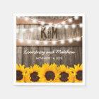 Rustic Country Wedding | Sunflower String Lights Napkin