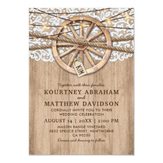 Rustic Country Wedding | Wooden Wheel Card