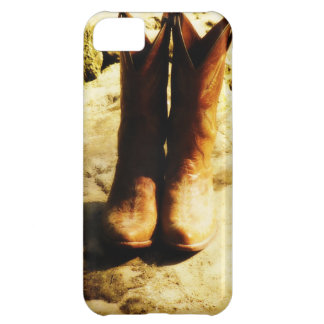 Rustic Country Western Cowboy Boots in Sunlight Case For iPhone 5C