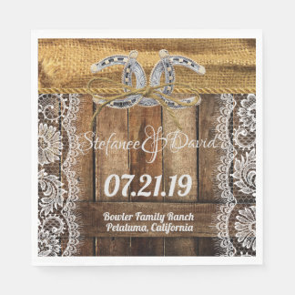 Rustic Country Western Wedding Paper Napkin