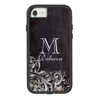 rustic country white lace chalkboard monograms Case-Mate tough extreme iPhone 8/7 case