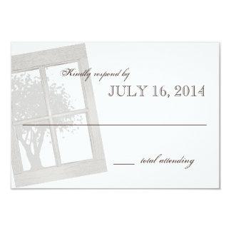 Rustic Country Window Frame Wedding Card