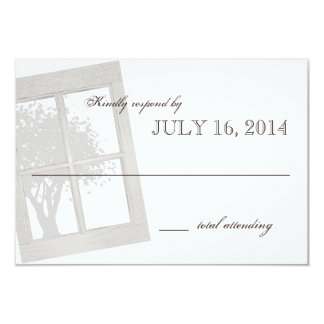 Rustic Country Window Frame Wedding Invitations
